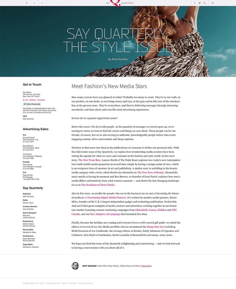 Sayquarterly.com